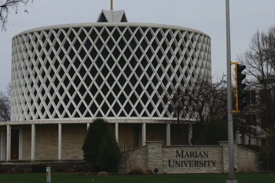 "The chapel at Marian University in Fond du Lac, Wis. Last week, the 7th U.S. Circuit Court of Appeals declined to revive a suspended student's discrimination suit against the school, finding he failed to support his contention that an ""anti-male, pro-feminist"" culture led Title IX officials to favor female complainants."