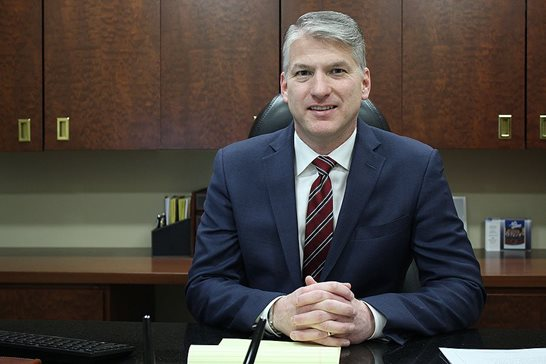 Kenneth T. Lumb, the new managing partner at Corboy & Demetrio P.C., is pictured at his desk on Monday. The 52-year-old plaintiff's lawyer plans to continue with his practice in addition to the new responsibilities.