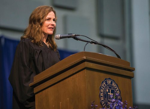 A May 2018 file photo: Amy Coney Barrett, a judge on the  U.S. Court of Appeals for the Seventh Circuit, was nominated Saturday by President Donald Trump to be the next associate justice of the U.S. Supreme Court. If confirmed by the U.S. Senate,  Barrett will replace Ruth Bader Ginsburg, who died Sept. 18 of cancer.