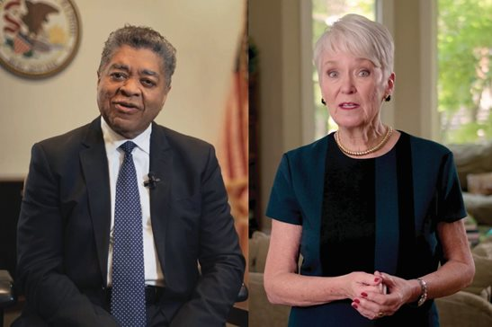 Circuit Judges Timothy C. Evans and Lorna E. Propes each produced YouTube videos making their case to bench colleagues ahead of Thursday's vote for chief judge. Evans, the incumbent, has held the court's top administrative role since 2001.